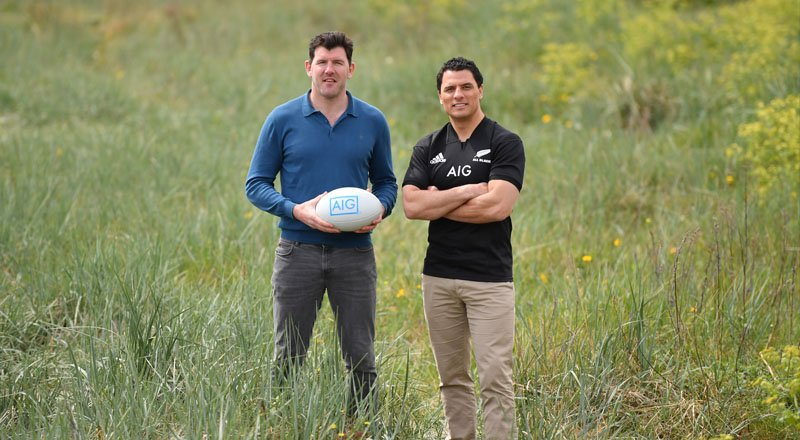 Shane Horgan and Doug Howlett in Dublin
