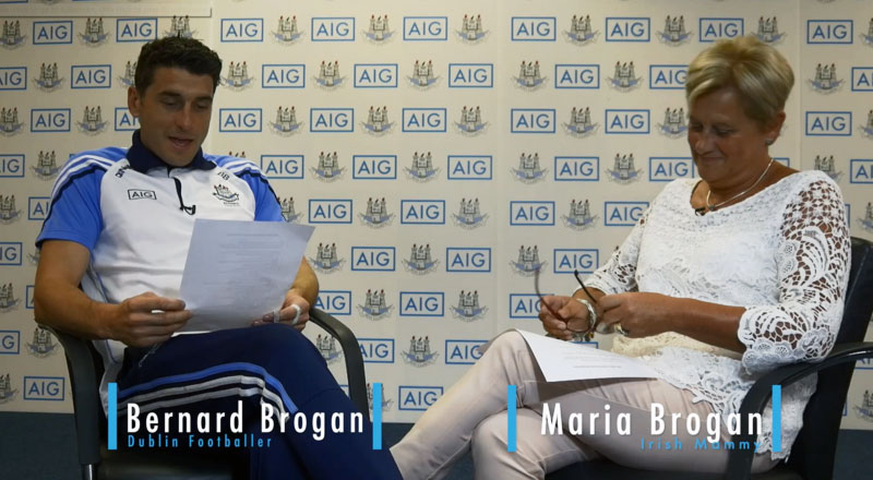 Dublin Footballer Bernard Brogan Interviewed by his Mammy - PART 1