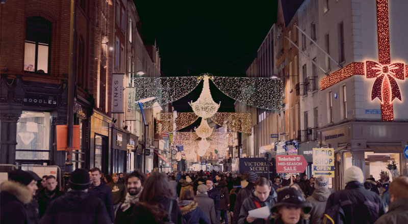 Christmas events for families in Grafton Street, Dublin