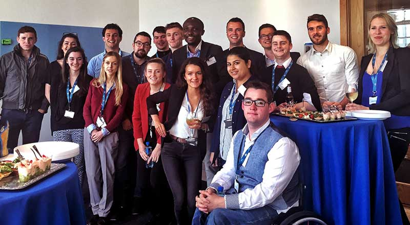The full host of genwhy finalists at the event in AIG's Dublin office.