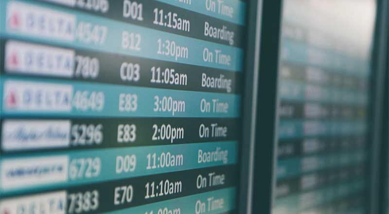 Keep an eye on your flight times