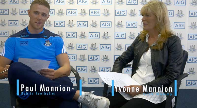 Dublin GAA Footballer Paul Mannion Interviewed with Mammy Yvonne - PART 1