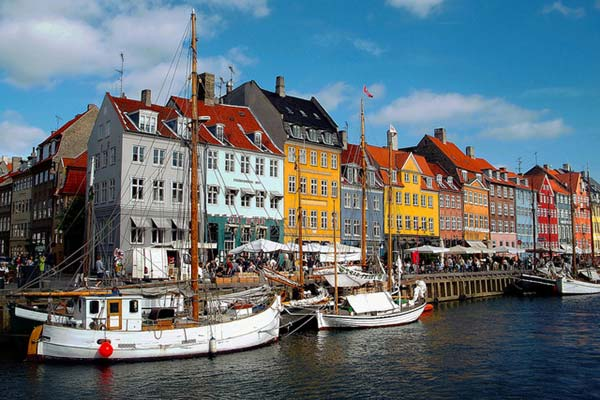 The Famous Quays of Copenhagen