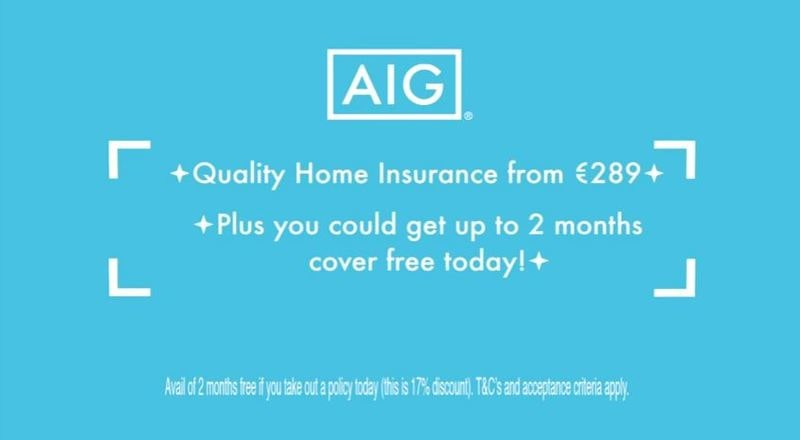AIG Home Insurance TV AD |AIG Ireland