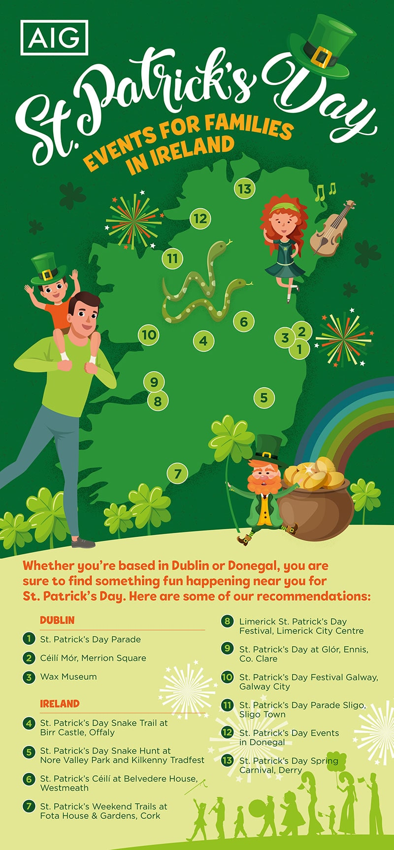 St. Patrick's Day Events for Families in Ireland