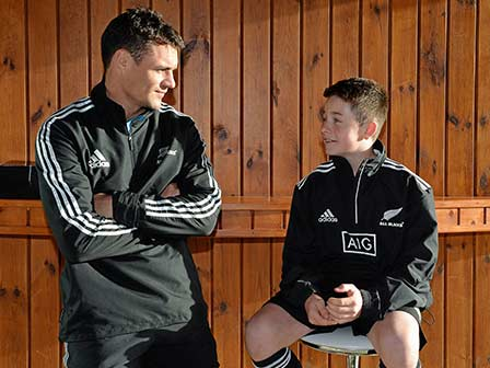 Dan Carter and George Meet.