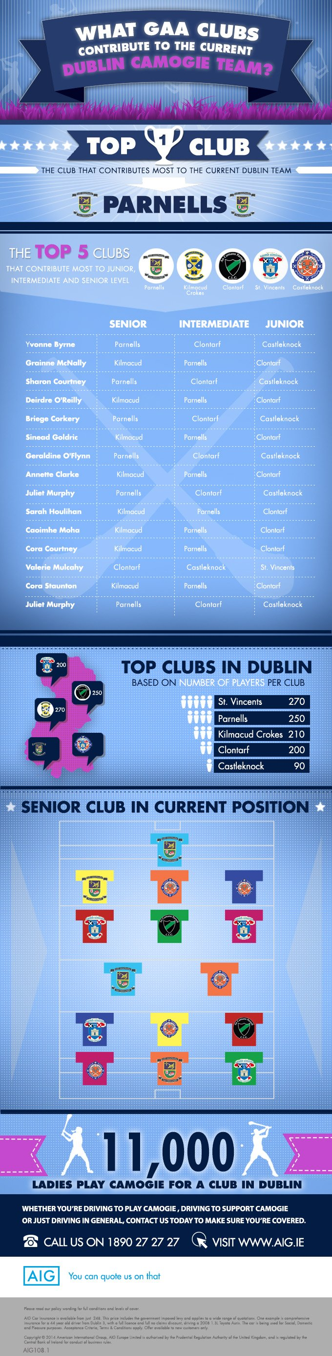 What GAA clubs contribute to the current Dublin Camogie team