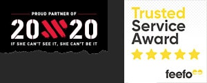 AIG are proud partners of 20x20 and are a winners of  Feefo's Trusted Service Award.