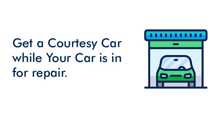 Get a courtesy car while your car is in repair