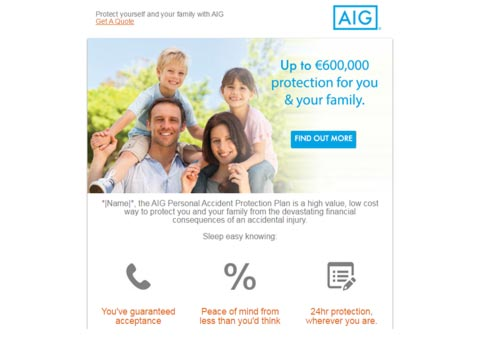 AIG Product Emails