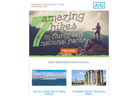AIG Newsletter Emails