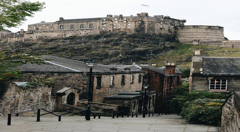 Edinburgh Castle and Close.