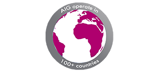 AIG operate in 100+ countries. Global, safe and secure.