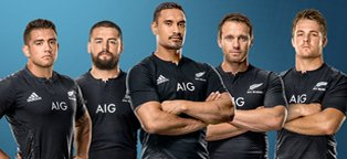 New Zealand All Blacks sponsored by AIG