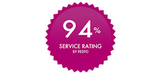 94% Service rating by Feefo